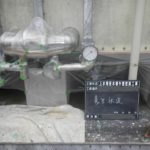 受水槽外壁塗装工事養生